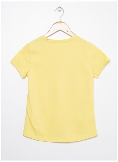 Limon Company Limon Açık Sarı Bisiklet Yaka Görsel Baskılı Kız Çocuk T-Shirt Sarı